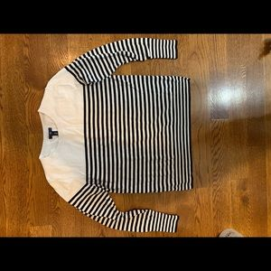 Gap Sweater Black and White Stripes